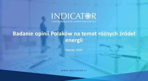 Badanie opinii Polaków na temat różnych źródeł energii