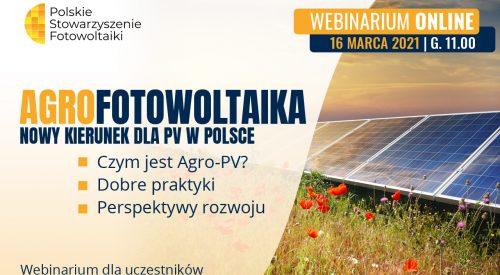 Agrofotowoltaika. Nowy kierunek dla PV w Polsce – webinarium